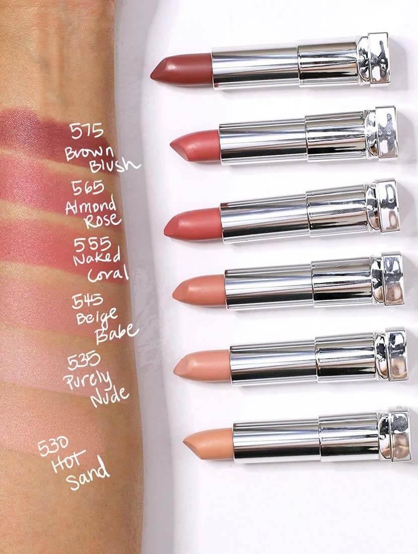 maybelline nude lipsticks - shajgoj.com