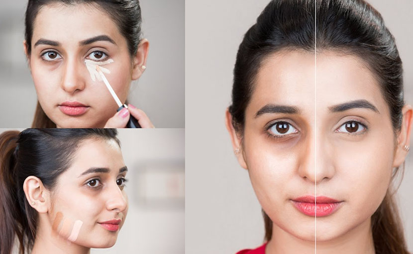 পহেলা বৈশাখের লাইট মেকআপ করার ১ম ধাপ বেইজ Makeup - shajgoj.com