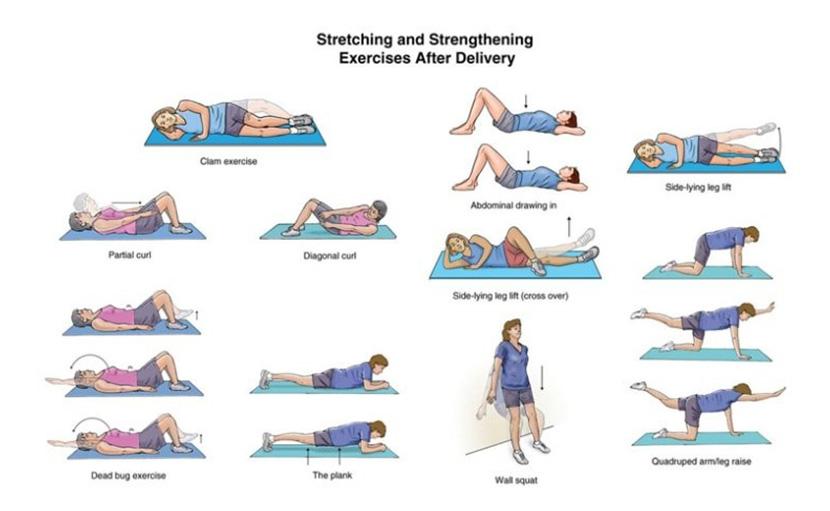 প্রসব পরবর্তী ব্যায়াম করার নিয়ম stretching ও strengthening - shajgoj.com