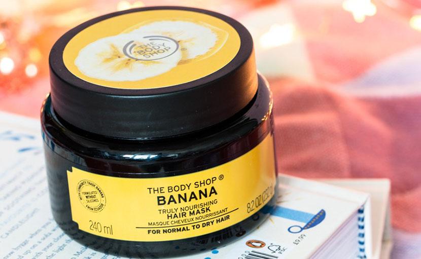 চুলের পুষ্টি জোগাতে The Body Shop Banana Truly Nourishing Hair Mask এর পাকেজিং এর ছবি - shajgoj