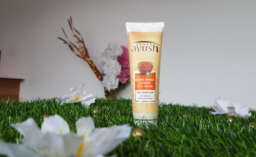 Lever Ayush Natural Fairness Saffron Face Cream - shajgoj.com
