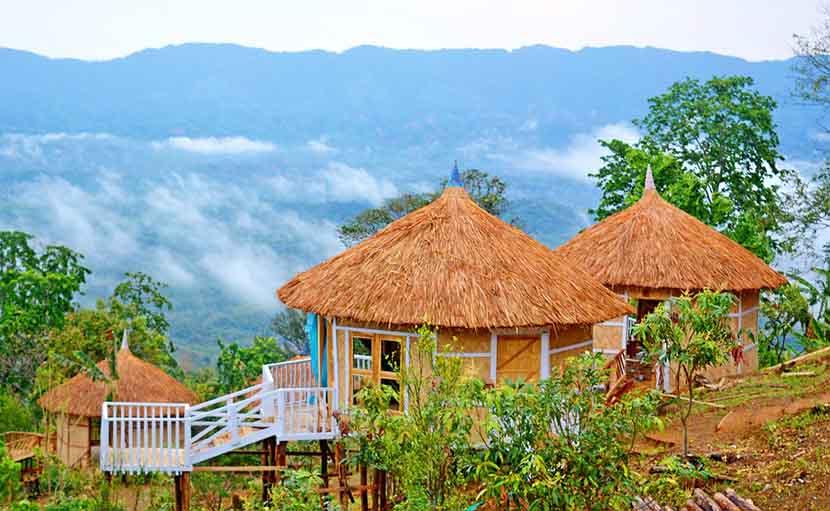 সাজেকে থাকার কুটির - shajgoj.com