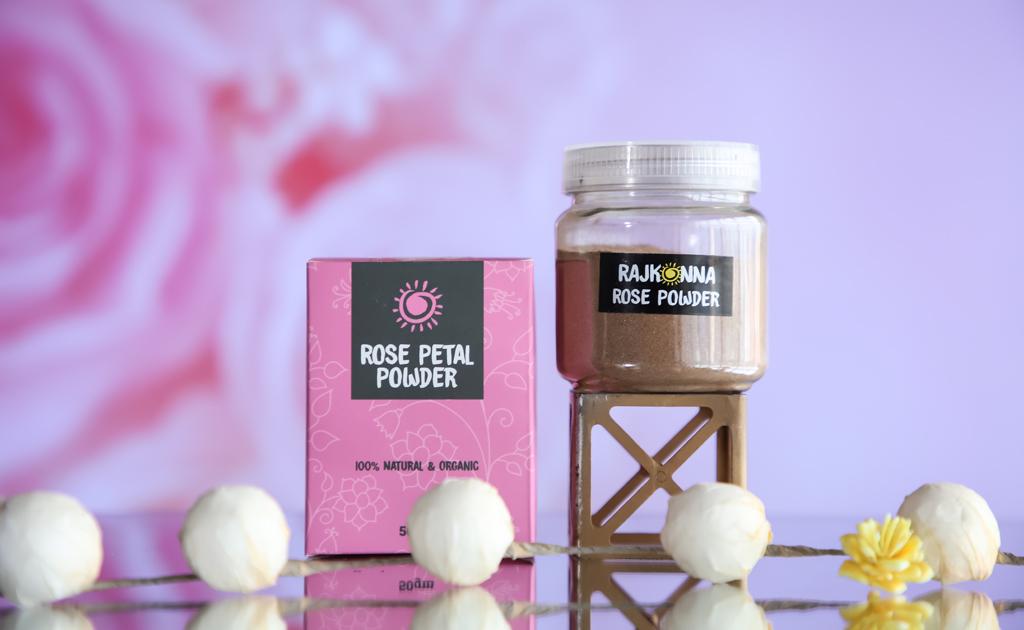 rajkonna rose petal powder